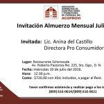 Almuerzo-Mensual-Julio,-Invitada,-Lic.-Anina-del-Castillo,-Directora-Pro-Consumidor