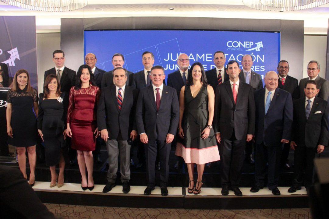 Integrantes de la nueva junta directiva del Conep, encabezada por Pedro Brache